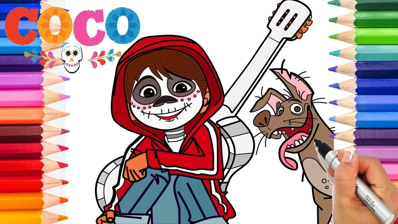 Disney Pixar Coco Movie Coloring Pages