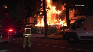 Apartments Destroyed By Major Fire In Panorama City