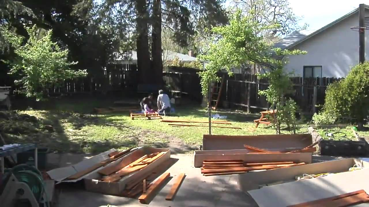 build a swing set in a day youtube