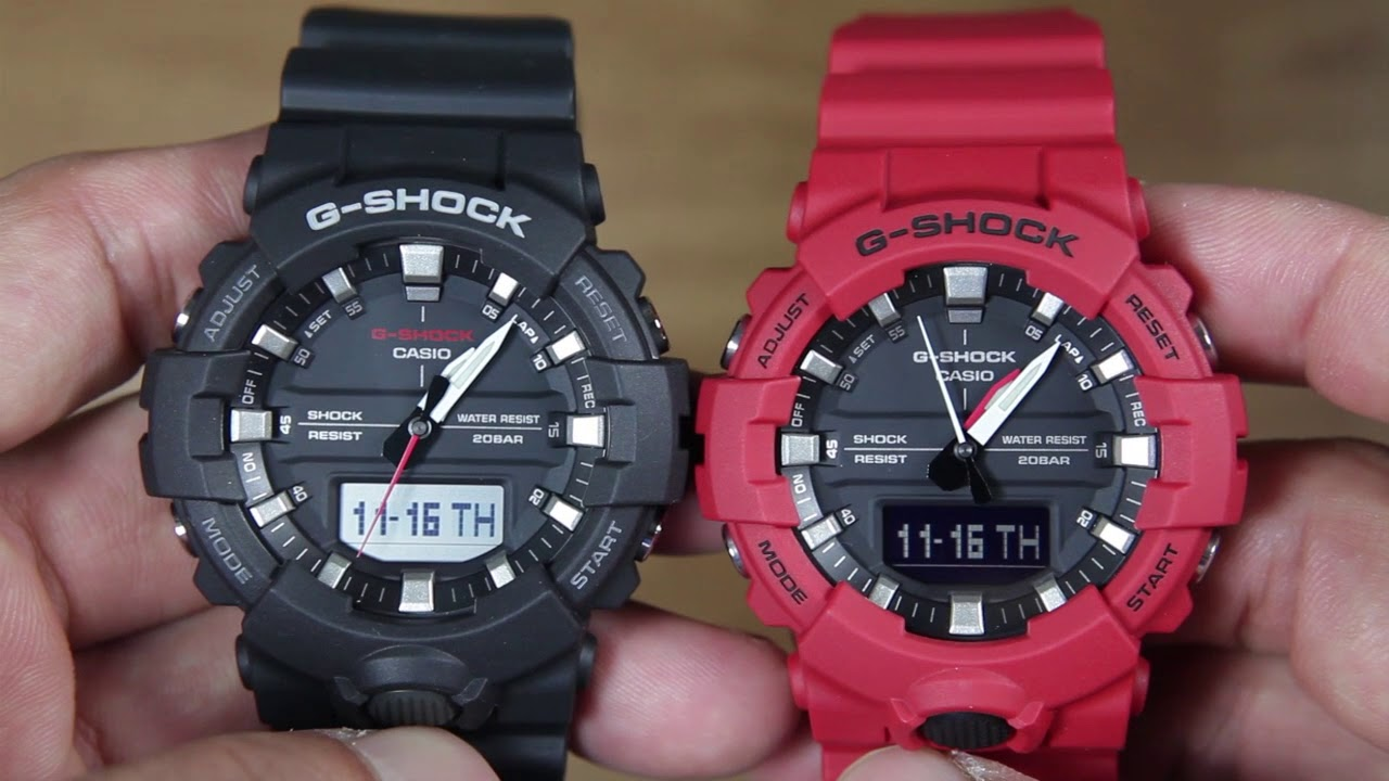 732d53bea2ab CASIO G-SHOCK GA-800-1A VS G-SHOCK GA-800-4A - YouTube
