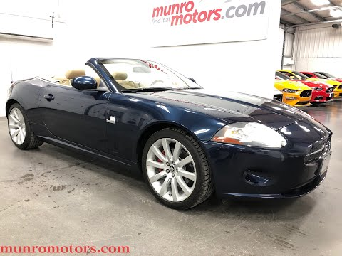 2007 Jaguar XK  SOLD SOLD SOLD Convertible Indigo Blue With Tan Leather Munro Motors