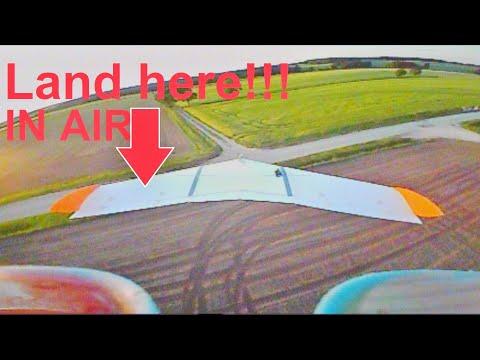 Фото FPV-Drohne landet im Flug auf Modellflieger - #FPVLandingChallenge #landherewithyourdrone