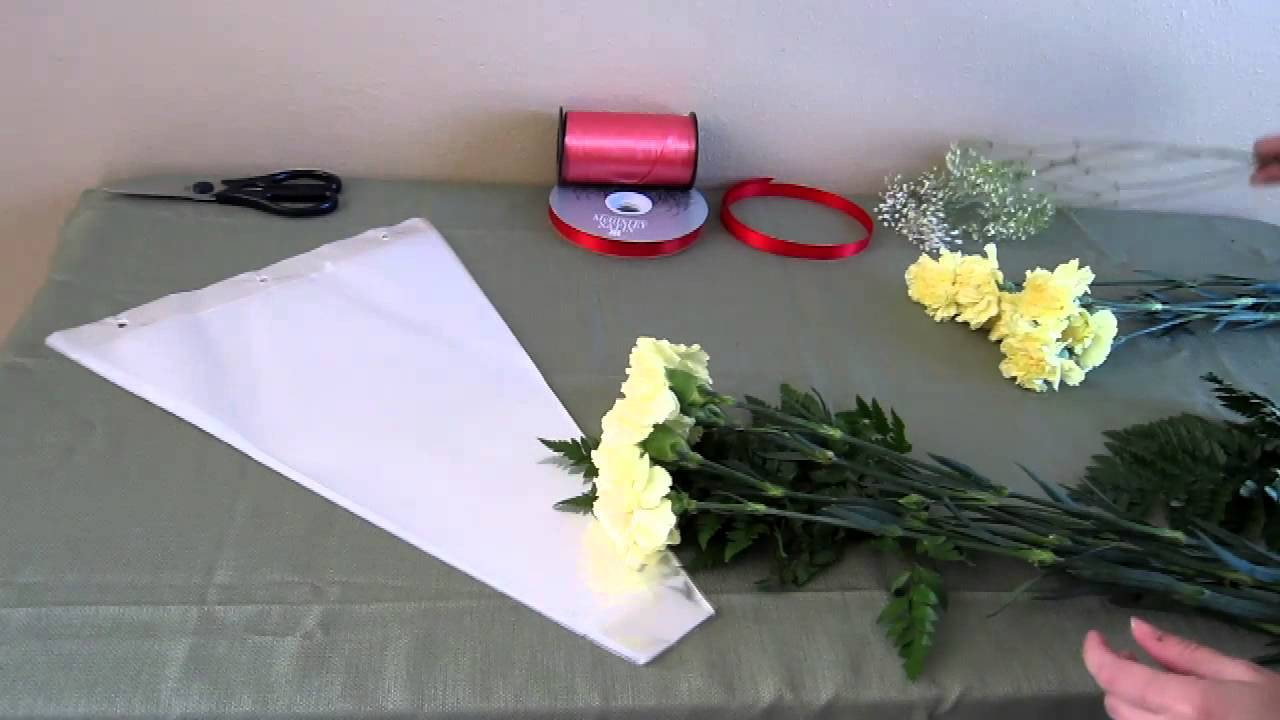 Flower Bouquet Cellophane Sleeves - YouTube