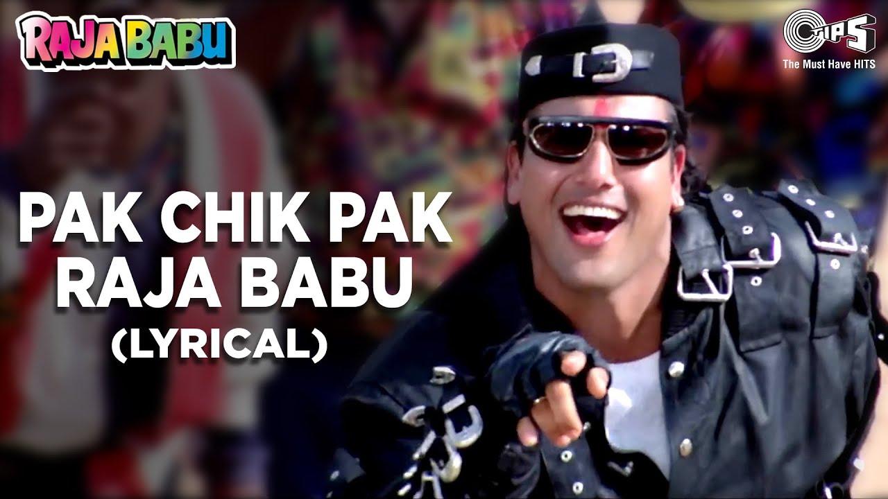 Pak Chik Pak Raja Babu (Lyrical) Govinda | Vinod R, Jolly M, Anand S | Raja Babu | 90's Hindi Song