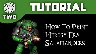 Games Workshop Tutorial: How To Paint Horus Heresy Era Salamanders