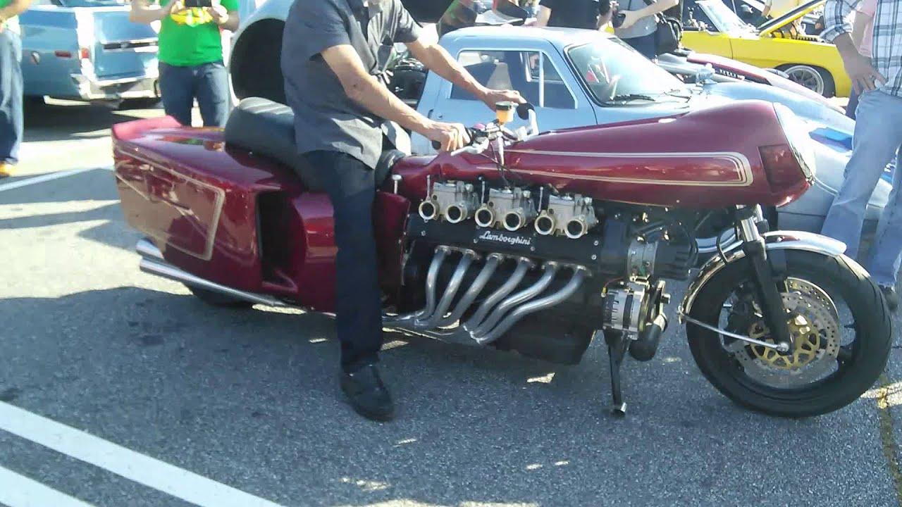 Insane Lamborghini V12 Motorcycle Startup Revs And Idle Caffeine