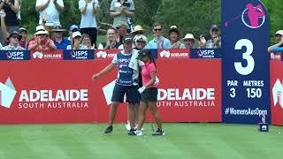 Stephanie Na hole-in-one at 2018 ISPS Handa Women's Australian Open