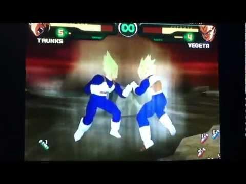 Dragon ball z Budokai 1 Trunks vs Vegeta
