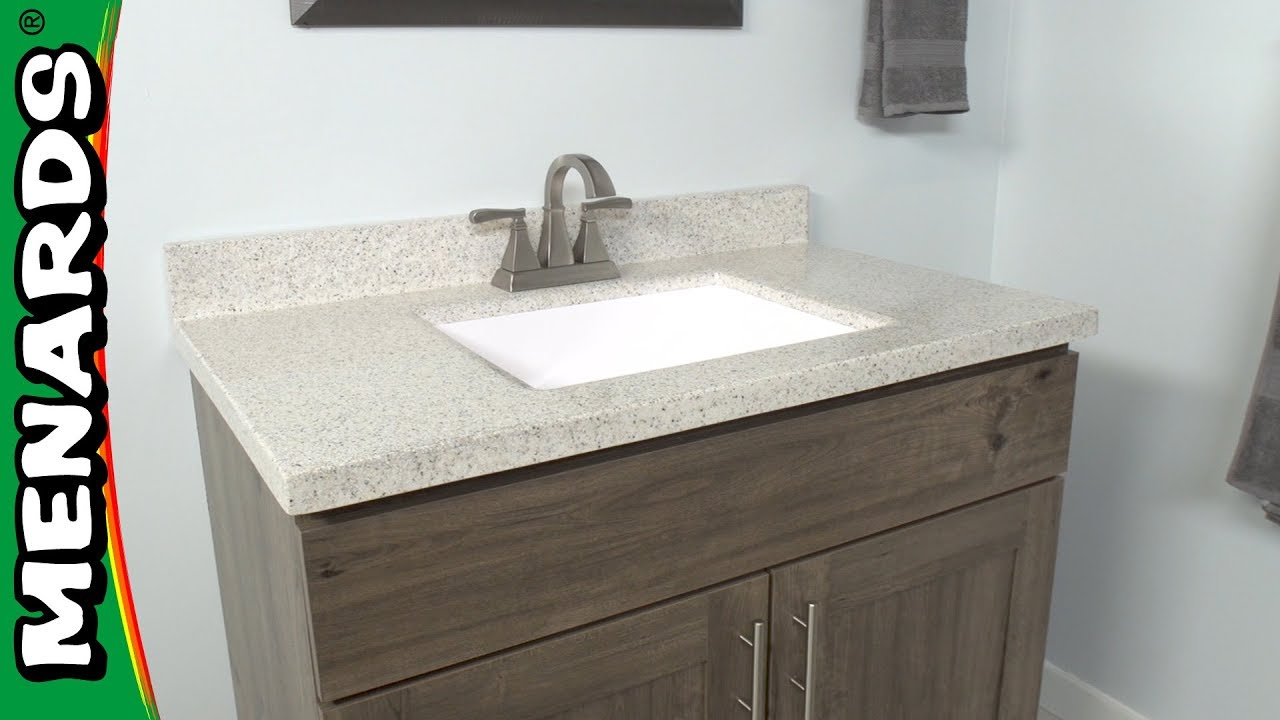 How To Install A Vanity Top Menards Youtube