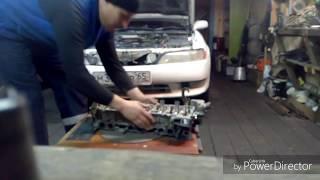 Как отремонтировать  ГБЦ TOYTA MARK II двигатель 1G. Полный обзор.
