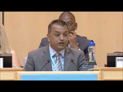 Gagan Kumar Thapa, Minister for Health of Nepal at 70th World Health Assembly, Geneva