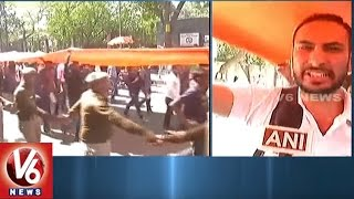 Ramjas College Violence   ABVP Takes out Tiranga March in Delhi University   V6 News