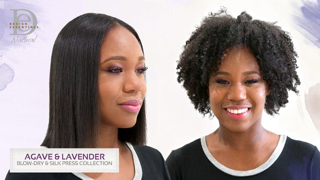 Design Essentials Agave Lavender Shoulder Length Bob Silk Press