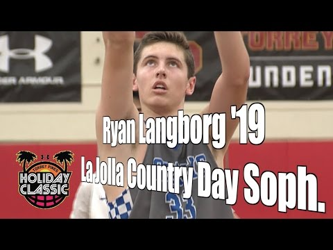 Ryan Langborg '19, La Jolla Country Day Sophomore Year, 2016 UA Holiday Classic