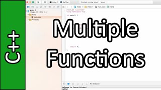 Functions - C++ Programming Tutorial #8 (PC / Mac 2015)