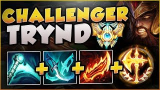 THIS NEW 1v9 CHALLENGER TRYND BUILD IS TOO DUMB! TRYNDAMERE SEASON 8 TOP GAMEPLAY! League of Legends