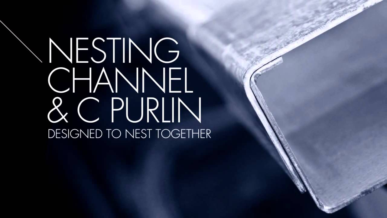 Textor Metal Industries Nesting Channel C Purlin Youtube