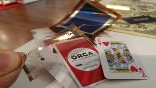 imec flexible processor, printed AMOLED display and RFID/NFC tags in playing cards with Cartamundi