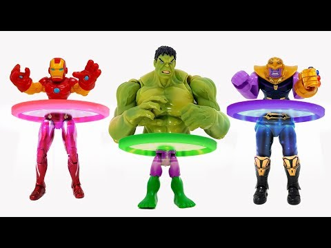 The Hulk, the Iron Man, went into the magic ring and changed shape.❤️ Rachaman Toy