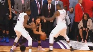 LeBron James SHUTS DOWN STEPHEN CURRY WITH KEVIN DURANT IN 2018 NBA ALL-STAR GAME!!!