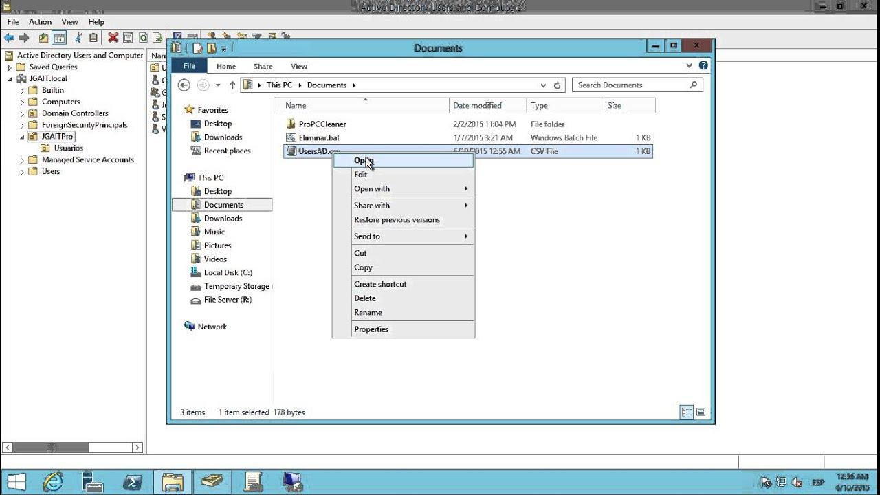 Windows Server 2012 R2 - Exportar usuarios de Active Directory a CSV ...
