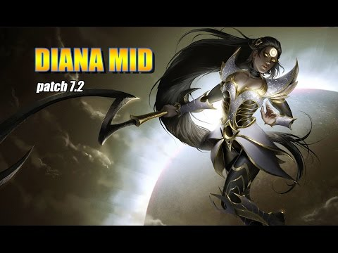 Diana Mid vs Ahri - Full Gameplay - League of Legends Patch 7.2