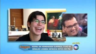 Dia dos Pais: Geraldo Luís é surpreendido por homenagem de seu filho