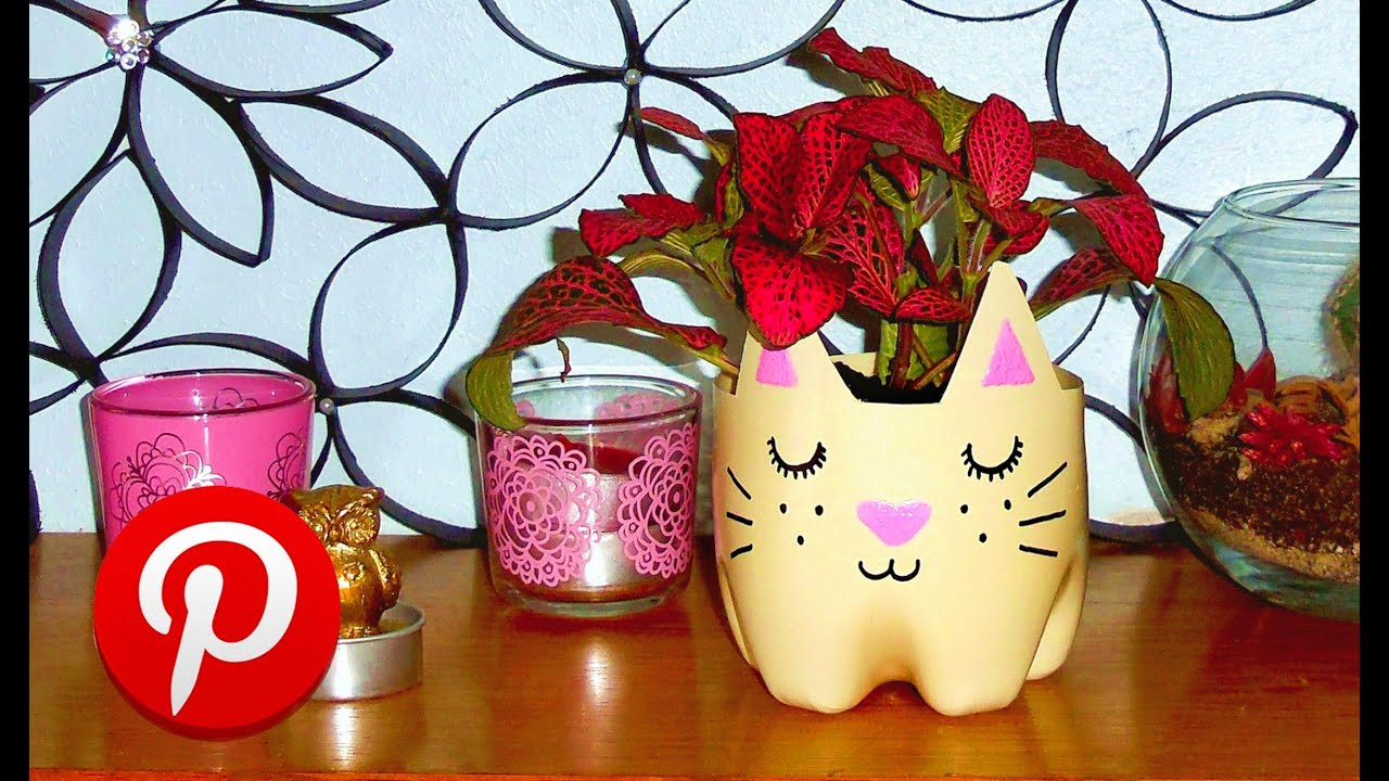 DIY Cat Planter Pinterest Test DIY Room Decor YouTube