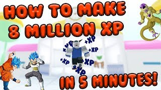 8 MILLION XP IN 5 MINUTES | Hyperbolic Time Chamber Training | Dragon Ball Final Stand