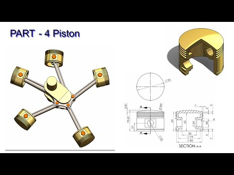 Solidworks Tutorial#49 | Design And Motion Analysis | Piston.
