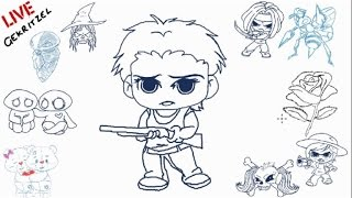 chibi carol from the walking dead  drawing lesson