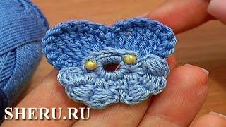 Crochet Pansy Flower Урок 64 часть 1 из 2 Вязаная фиалка