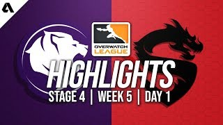 Los Angeles Gladiators vs Shanghai Dragons | Overwatch League Highlights OWL Stage 4 Week 5 Day 1