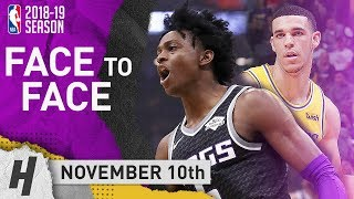 De'Aaron Fox DESTROYS Lonzo Ball! Full Duel Highlights Lakers vs Kings 2018.11.10 - 21 Pts for Fox