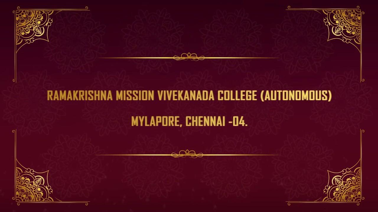 Dr.K.Sethusankar Principal R.K.M. Vivekananda College, Mylapore Chennai