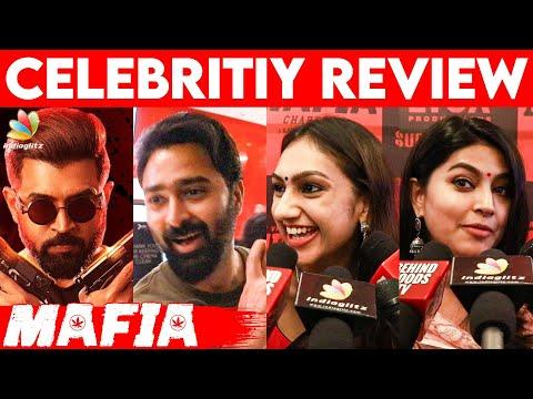 இப்படி பண்ணுவார்-னு நெனக்கல!Sneha Cute speech🥰 | Mafia celebrity review | Arun Vijay, Prasanna