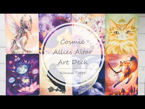 開箱  宇宙同盟神諭卡 • Cosmic Allies Altar Art Deck // Nanna Tarot