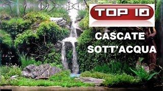 Top 10 bellissime cascate in acquario. Waterfall Underwater.