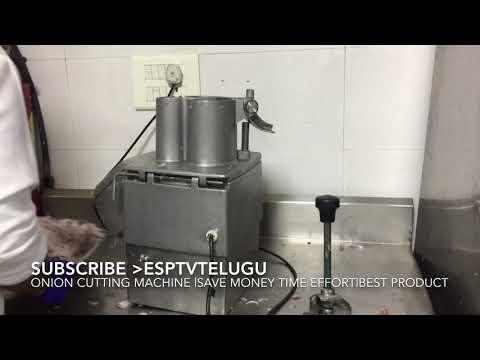 Onion cutting machine   easy to use clean  save money time effort manpower  esptvtelugu native taste
