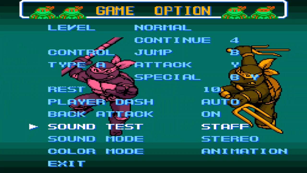 TMNT 4 - Turtles in Time <b>Cheat codes</b> for Super Nintendo (<b>SNES</b> ...