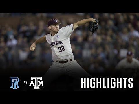 Baseball: Highlights   A&M 4, Rhode Island 1