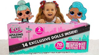 Диана и Огромный ЛОЛ Сюрприз! 14 кукол + 70 сюрпризов! LOL Amazing Surprise