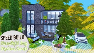 The Sims 4 Speed Build | MOONLIGHT BAY MODERN HOUSE + CC Links