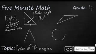4th Grade Math Types of Triangles