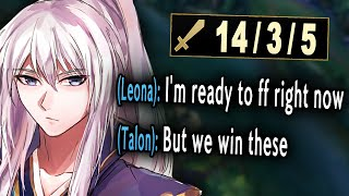 My team gave up but they forgot they have my Talon