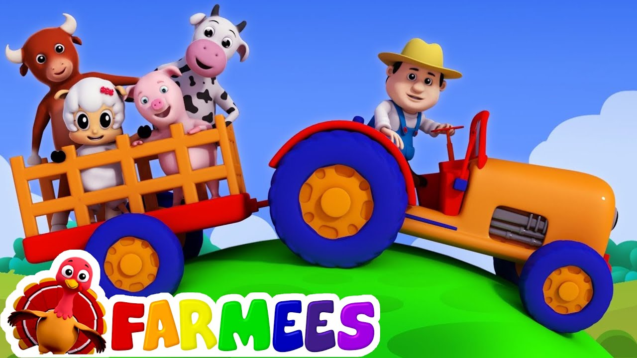 Old Macdonald Had A Farm Nursery Rhymes Children Song By Farmees You
