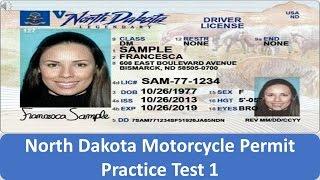 North Dakota Motorcycle Permit Practice Test 1