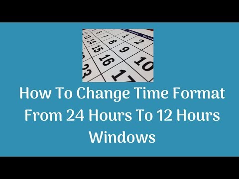how to change windows time