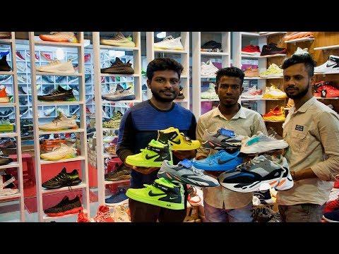 সবচেয়ে বড় বিদেশী জুতার দোকান || Biggest China Shoes Shop in Dhaka || জুতার হাটে এত সস্তা জুতার দাম