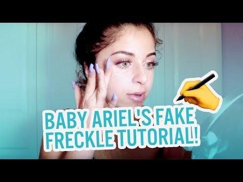 BABY ARIEL'S QUICK MAKEUP & FAKE FRECKLE TUTORIAL!